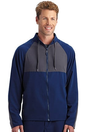 Performance Rx by Jockey® Men's Performance RX REFLECTech™ Zip Front Solid Scrub Jacket