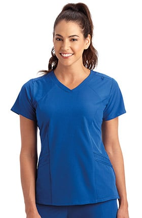Performance Rx by Jockey® Women's Make Your Move V-Neck Solid Scrub Top