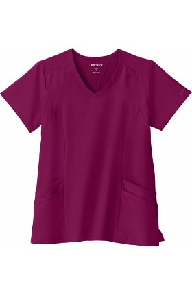 Performance Rx by Jockey Women's Make Your Move V-Neck Solid Scrub Top