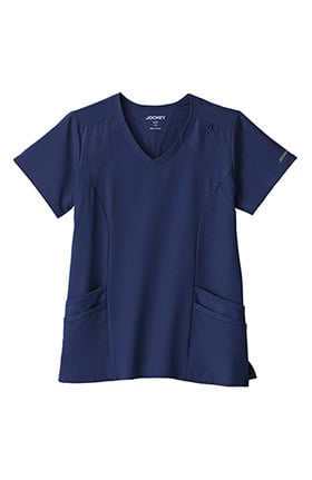 Clearance Performance Rx by Jockey Women's Make Your Move V-Neck Solid Scrub Top