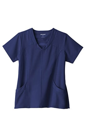 Performance Rx by Jockey® Women's Curved V-Neck Solid Scrub Top