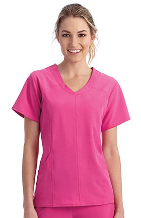 Clearance Performance Rx by Jockey Women's Curved V-Neck Solid Scrub Top