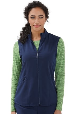 Classic Fit Collection by Jockey® Women's Sporty Zip Front Solid Scrub Vest
