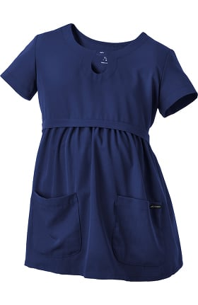 Classic Fit Collection by Jockey Women's Maternity Empire Waist Solid Scrub Top