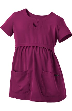 Clearance Classic Fit Collection by Jockey Women's Maternity Empire Waist Solid Scrub Top