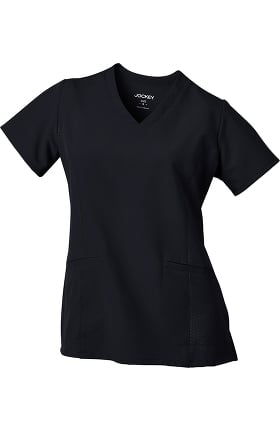 Clearance Performance Rx by Jockey® Women's V-Neck Embossed Side Panel Solid Scrub Top