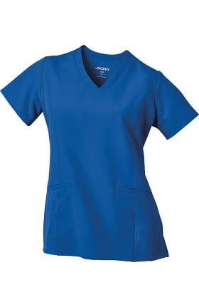Clearance Performance Rx by Jockey Women's V-Neck Embossed Side Panel Solid Scrub Top
