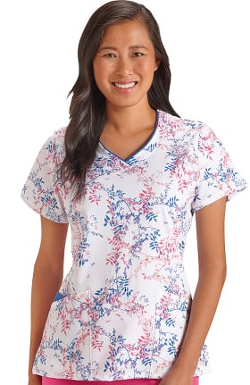 Classic Fit Collection by Jockey® Women's V-Neck Floral Print Scrub Top