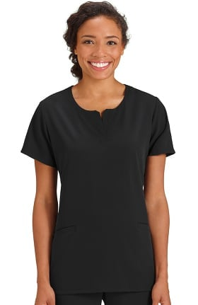 Clearance Classic Fit Collection by Jockey Women's Scoop Notch Neck Solid Scrub Top