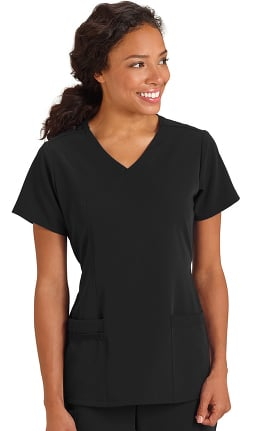 Modern Fit Collection by Jockey Women's Mock Wrap Solid Scrub Top