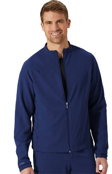 Classic Fit Collection by Jockey Unisex Zip And Go Solid Scrub Jacket