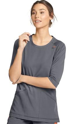 Retro by Jockey Women's Scrubbie Comfort Solid Scrub Top