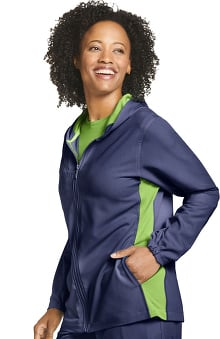 Retro by Jockey Women's Relay Zip Hoodie Scrub Jacket
