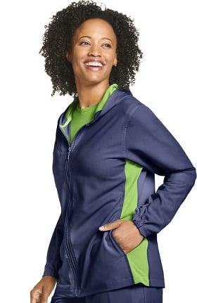 Retro by Jockey Women's Relay Zip Hoodie Scrub Jacket