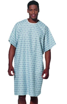 White Swan Unisex Pacifica Print Patient Gown 60 Pack
