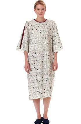 White Swan Unisex Monet Print Plus IV Telemetry Patient Gown 60 Pack