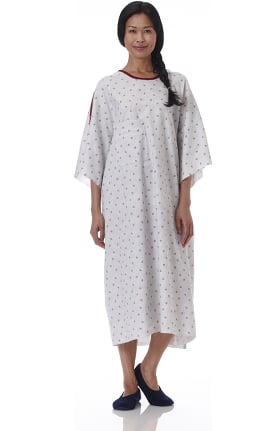 White Swan Unisex Star Print IV Telemetry Patient Gown 60 Pack