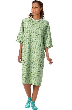White Swan Unisex Starburst Print Patient Gown 60 Pack