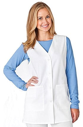 Clearance WS Gear by White Swan Women's V-Neck Solid 30'' Scrub Vest