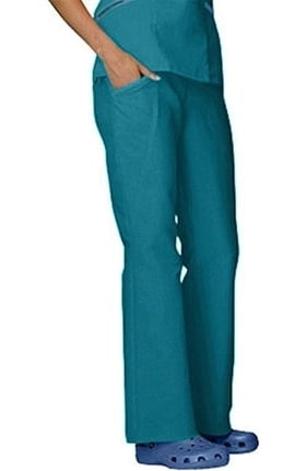 Clearance WS Gear by White Swan Women's Comfy Twill Flat Front Elastic Waist Scrub Pants