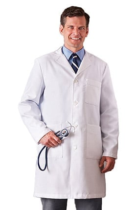 "Clearance META Labwear Men's 38"" X-Static Lab Coat"