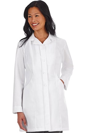 Pro by META Labwear Women's Double Curve Pocket Stretch Lab Coat