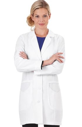 "Clearance Pro by META Labwear Women's 33"" High Collar Stretch Lab Coat"