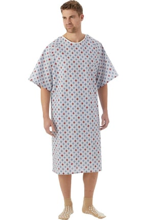 White Swan Unisex Atlantis Print Patient Gown 60 Pack