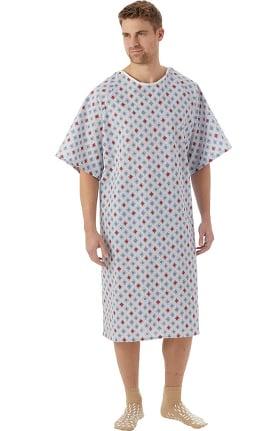 White Swan Unisex Atlantis Print Patient Gown 60 Pack