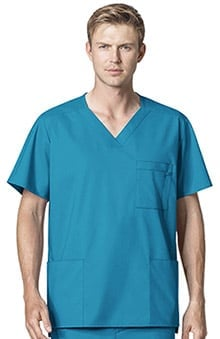 WonderWORK Men's V-Neck Solid Scrub Top