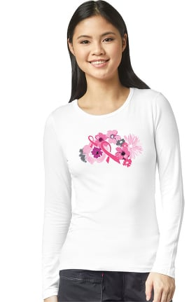 Clearance Layers by WonderWink Women's Strength In Pink Print Underscrub