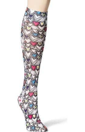 Accessories by WonderWink Women's 8-15 mmHg Printed Compression Socks