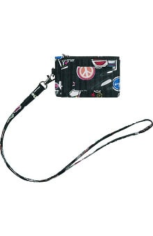 Accessories by WonderWink Women's Zip ID Case & Lanyard
