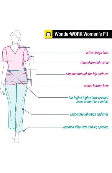 9376ee104a8 WonderWORK Women's Flare Leg Scrub Pant | allheart.com