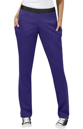 Clearance WonderTECH by WonderWink Women's Smooth Elastic Waistband Utility Scrub Pant