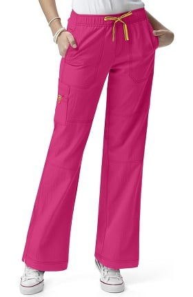 Four Stretch by WonderWink Women's Drawstring Elastic Waist Sporty Cargo Scrub Pant