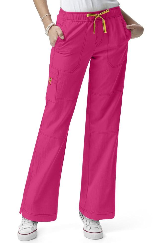fc7f967f381 Four Stretch by WonderWink Women s Drawstring Elastic Waist Sporty Cargo Scrub  Pant