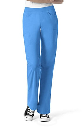 Clearance I Love WonderWink Women's Denim Inspired Pull On Scrub Pant