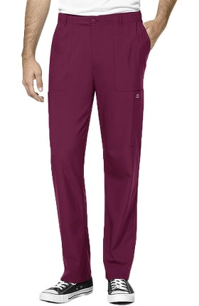 W123 by WonderWink Men's Zip Fly Cargo Scrub Pant