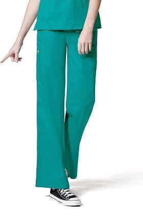 Clearance WonderFlex by WonderWink Women's Stretch Flare Scrub Pant