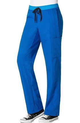 Four Stretch by WonderWink Women's Drawstring Elastic Waist Cargo Scrub Pant