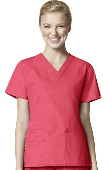 c45755c82dd Origins by WonderWink Women's Bravo Lady Fit V-Neck Solid Scrub Top