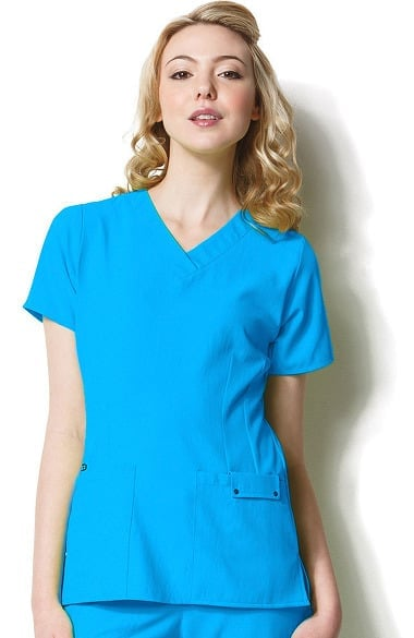 94eff82bf69 Clearance Easy Fit by WonderWink Women's Contoured V-Neck Solid Scrub Top