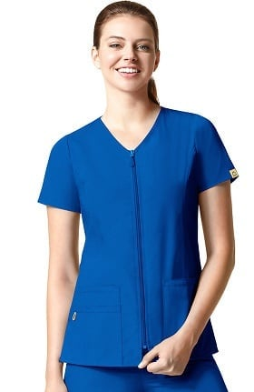 Origins by WonderWink Women's Kilo Zip Front Solid Scrub Top