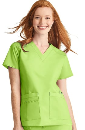 Clearance WonderFlex by WonderWink Women's Verity V-Neck Solid Scrub Top