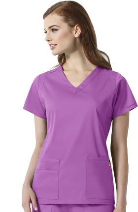 Next by WonderWink Women's Charlotte V-Neck Solid Scrub Top