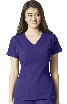 Aero by WonderWink Women's Flex Back Solid Scrub Top