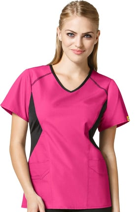 Clearance Origins by WonderWink Women's Sporty V-Neck Solid Scrub Top