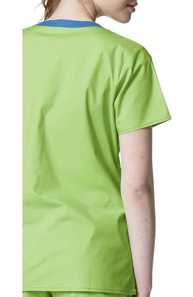 1a57081632a WonderFLEX by WonderWink Women's Patience Curved Notch Solid Scrub Top