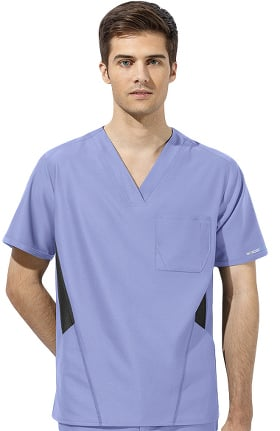 WonderTECH by WonderWink Men's V-Neck Solid Scrub Top